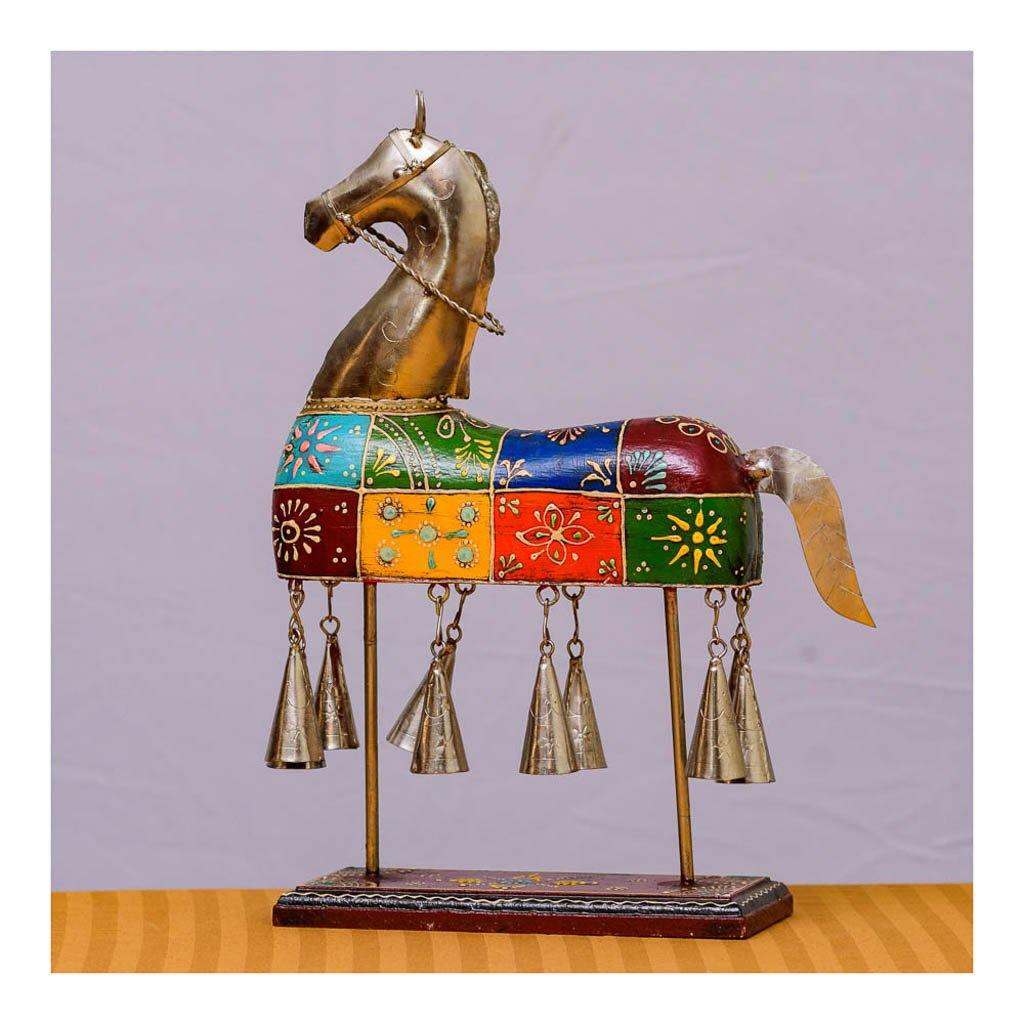 Wooden Horse with Bells - Multicolor - Paakhee - Handcrafting Dreams