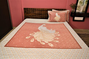 Soft cotton Peacock Bedsheet