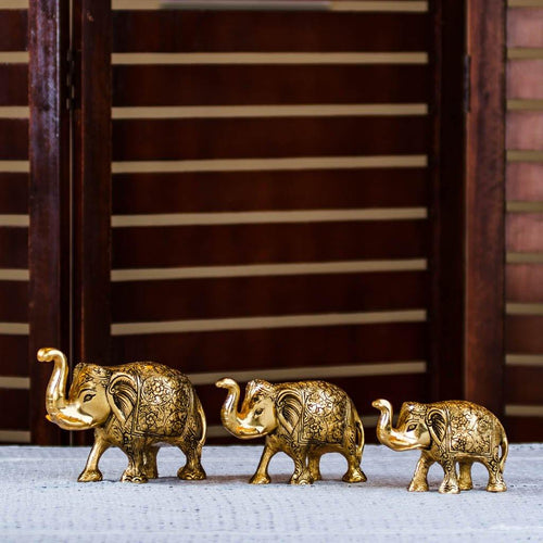 Elephant Herd - Set of 3 - Paakhee - Handcrafting Dreams