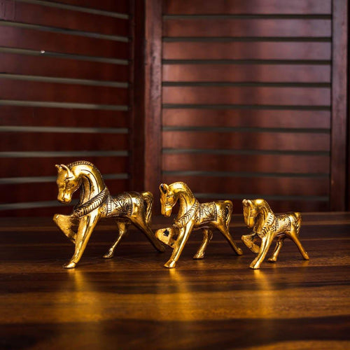 Walking horses - Set of 3 - Paakhee - Handcrafting Dreams