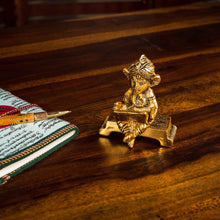Load image into Gallery viewer, Bronze Finish Laptop Ganesha - Paakhee - Handcrafting Dreams