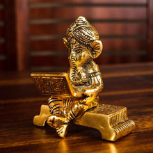 Load image into Gallery viewer, Bronze Finish Laptop Ganesha