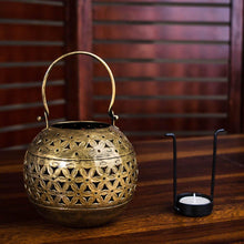 Load image into Gallery viewer, Small Pot Metal Tea Light Holder - Paakhee - Handcrafting Dreams