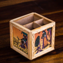 Load image into Gallery viewer, Wooden Pen Stand - Paakhee - Handcrafting Dreams