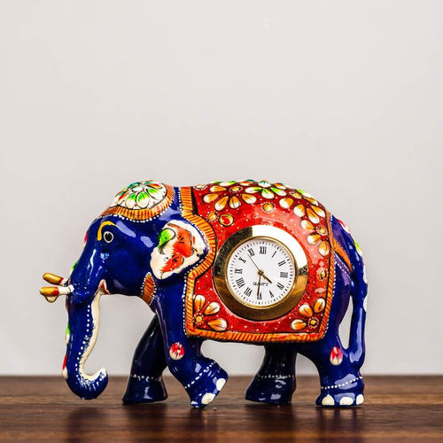 Table top elephant clock - Paakhee - Handcrafting Dreams