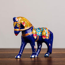 Load image into Gallery viewer, Meenakari Blue Horse