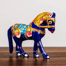 Load image into Gallery viewer, Meenakari Blue Horse - Paakhee - Handcrafting Dreams