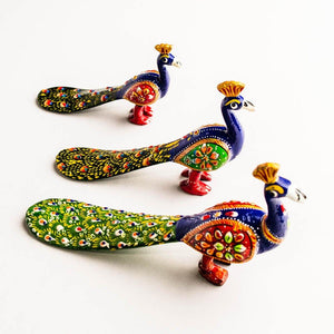 Peacocks - Set of 3 - Paakhee - Handcrafting Dreams