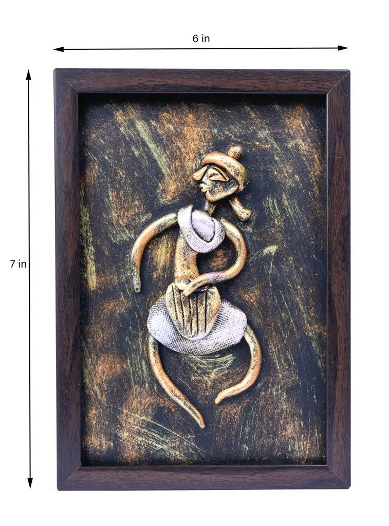 Mural Painting: Solo Dancing Lady (7 x 6 inches)