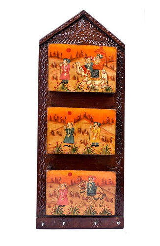 Wooden Letter Box | Wall Mount | Rajasthan Handicraft - Paakhee - Handcrafting Dreams