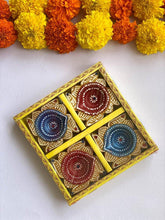 Load image into Gallery viewer, Handmade Square Diyas - Set of 4 - Paakhee - Handcrafting Dreams
