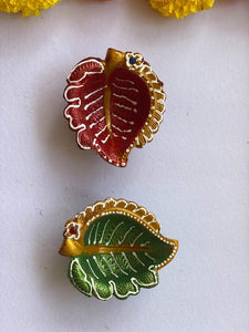 Leaf Clay Diyas - Set of 4
