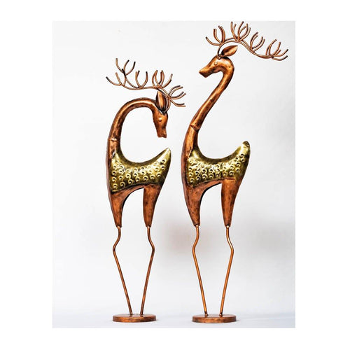 Reindeer - Set of 2 - Male & Female - Paakhee - Handcrafting Dreams