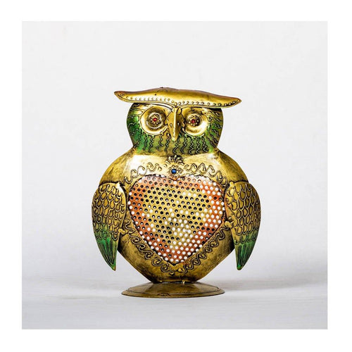 Owl Tea Light Holder - Paakhee - Handcrafting Dreams