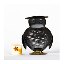 Load image into Gallery viewer, Owl Tea Light Holder - Paakhee - Handcrafting Dreams