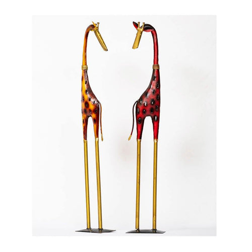 Giraffe - Set of 2 - Red & Orange - Paakhee - Handcrafting Dreams