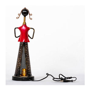 Tea Light Musician with bulb holder - Red - Paakhee - Handcrafting Dreams