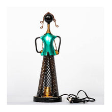 Load image into Gallery viewer, Tea Light Musician with bulb holder - Dark Green - Paakhee - Handcrafting Dreams