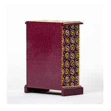 Load image into Gallery viewer, Ceramic Drawer with wooden frame - 6 drawer - Purple base - Paakhee - Handcrafting Dreams