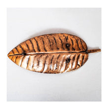 Load image into Gallery viewer, Metal Decorative Tray | Leaf shape | Small | Rajasthan Handicraft | Made in Cast Iron - Paakhee - Handcrafting Dreams