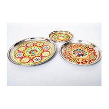 Load image into Gallery viewer, Puja Thali - Set of 3 - Small, Medium, Large - Paakhee - Handcrafting Dreams