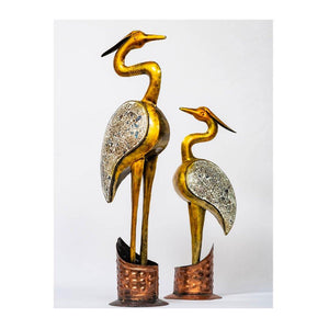 Golden Swan - Set of 2 - Large and Small - Paakhee - Handcrafting Dreams