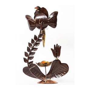 Leaf Ganesha Tea Light Holder - Paakhee - Handcrafting Dreams