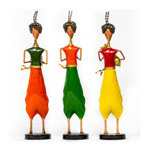 Load image into Gallery viewer, Multi coloured pagdi musician - Set of 3 - Paakhee - Handcrafting Dreams