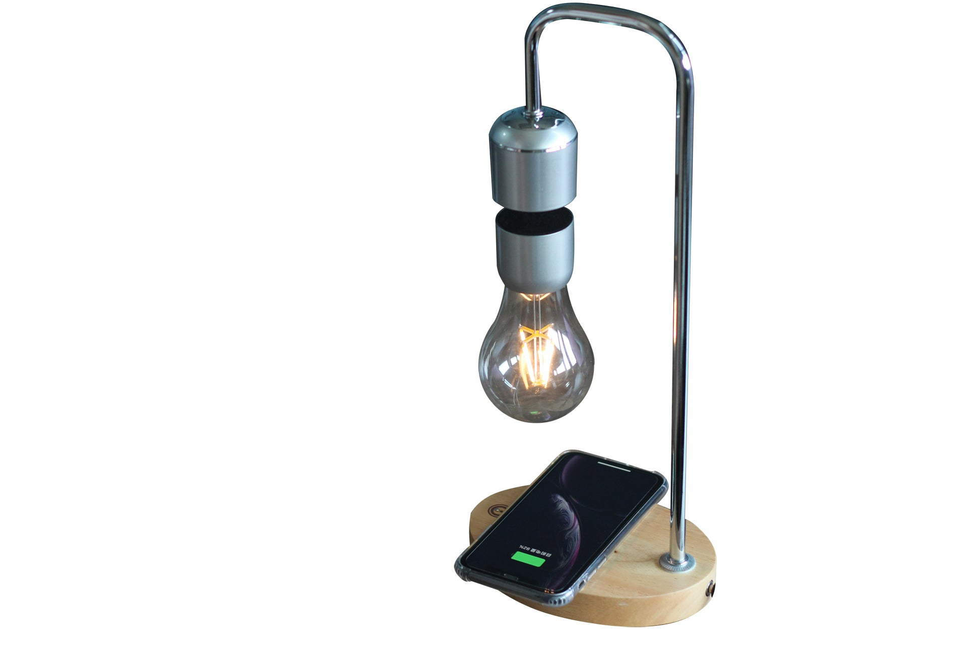 Floating lamp with wireless charger