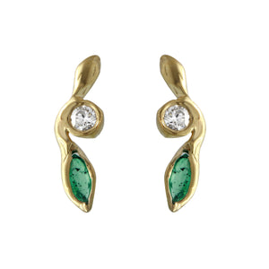 Diamond & Emerald Breathe Earring