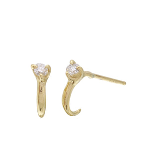Diamond Hoop Stud Earring