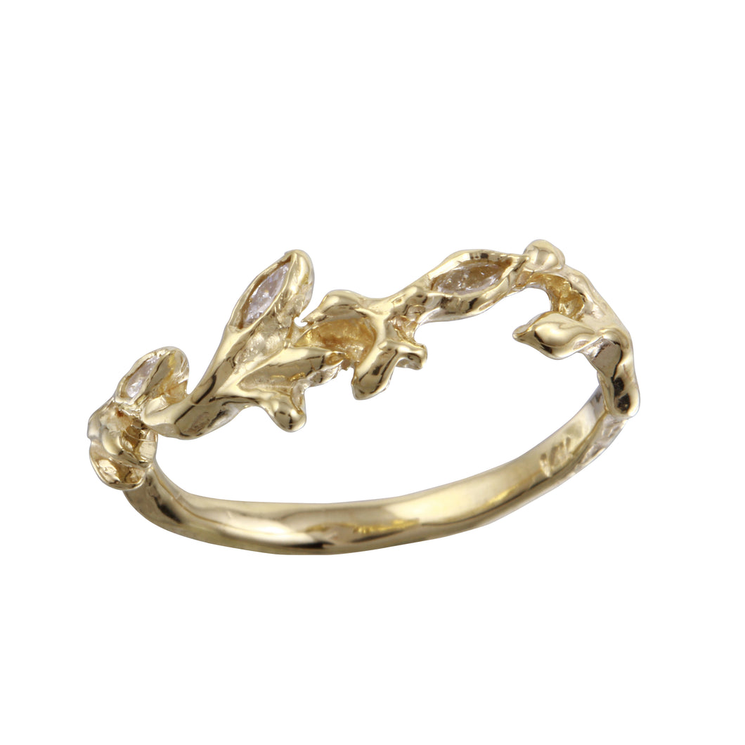 Gold & Diamond Vine Ring