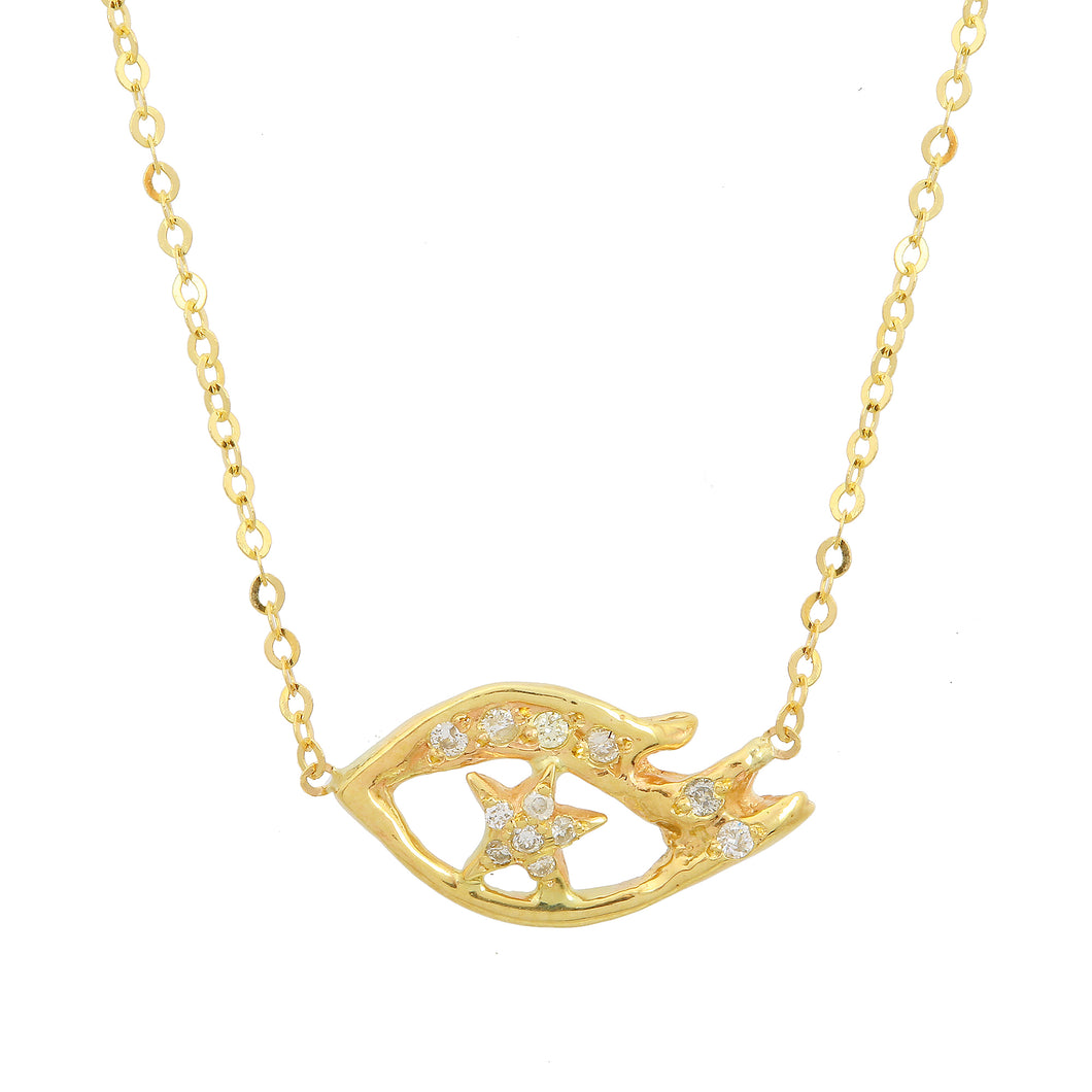 Starry Diamond Eye Necklace