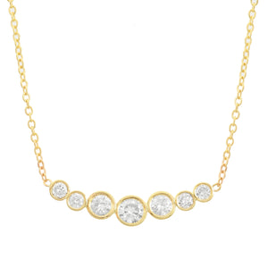 Seven Diamond Necklace