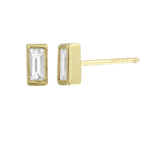 Baguette Diamond Stud Earring