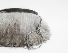 Load image into Gallery viewer, Ombre Grey Fur Clutch