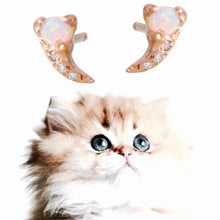 Load image into Gallery viewer, Opal & Diamond Pavé Fang Stud