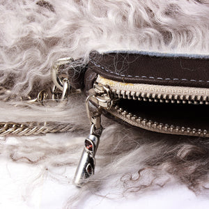 Ombre Grey Fur Clutch