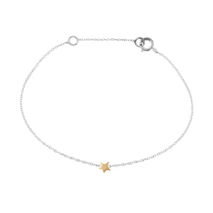 Tiny Gold Star Bracelet