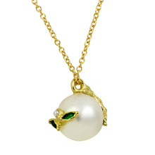 Load image into Gallery viewer, Tahitian Pearl & Emerald Necklace