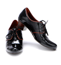 Load image into Gallery viewer, Black Patent Oxfords