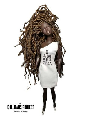 I Am One Dope Chick Off-Shoulder Dress Collector Doll