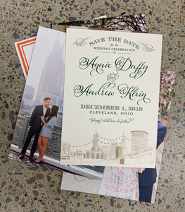 5 x 7 full color Invitation or save the date