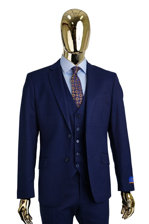 A6732 - SOLID VESTED SUIT MODERN FIT
