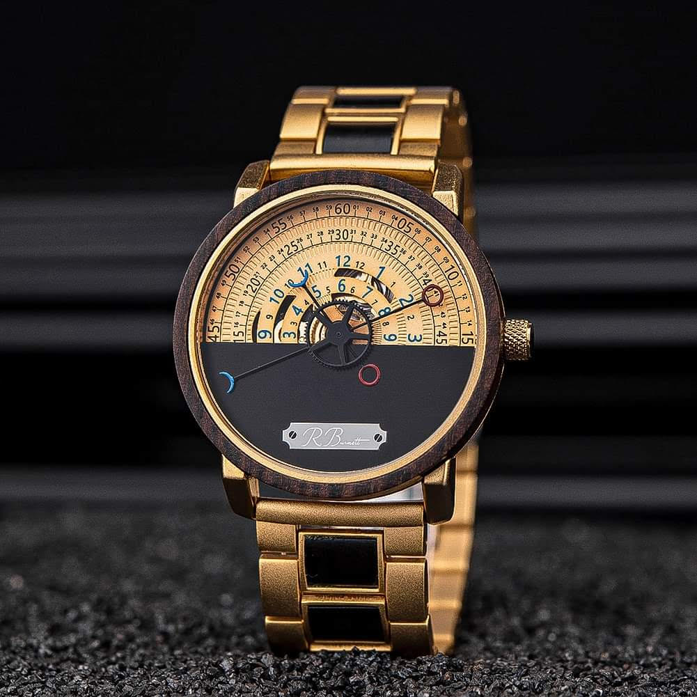 Aureus - Mens Mechanical Wooden Watch