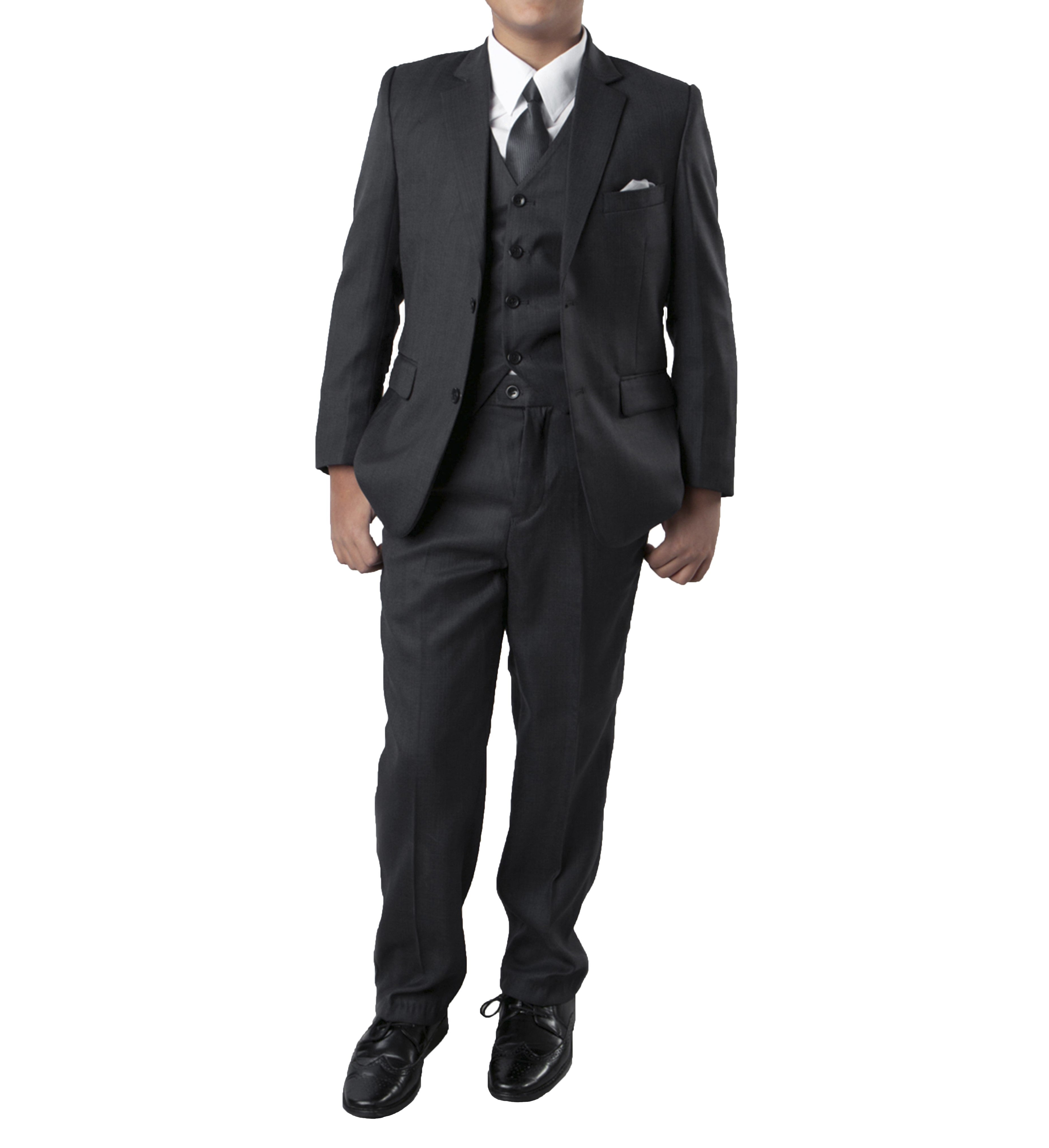 Tazio Charcoal Grey Formal Classic Fit Suits For Boys