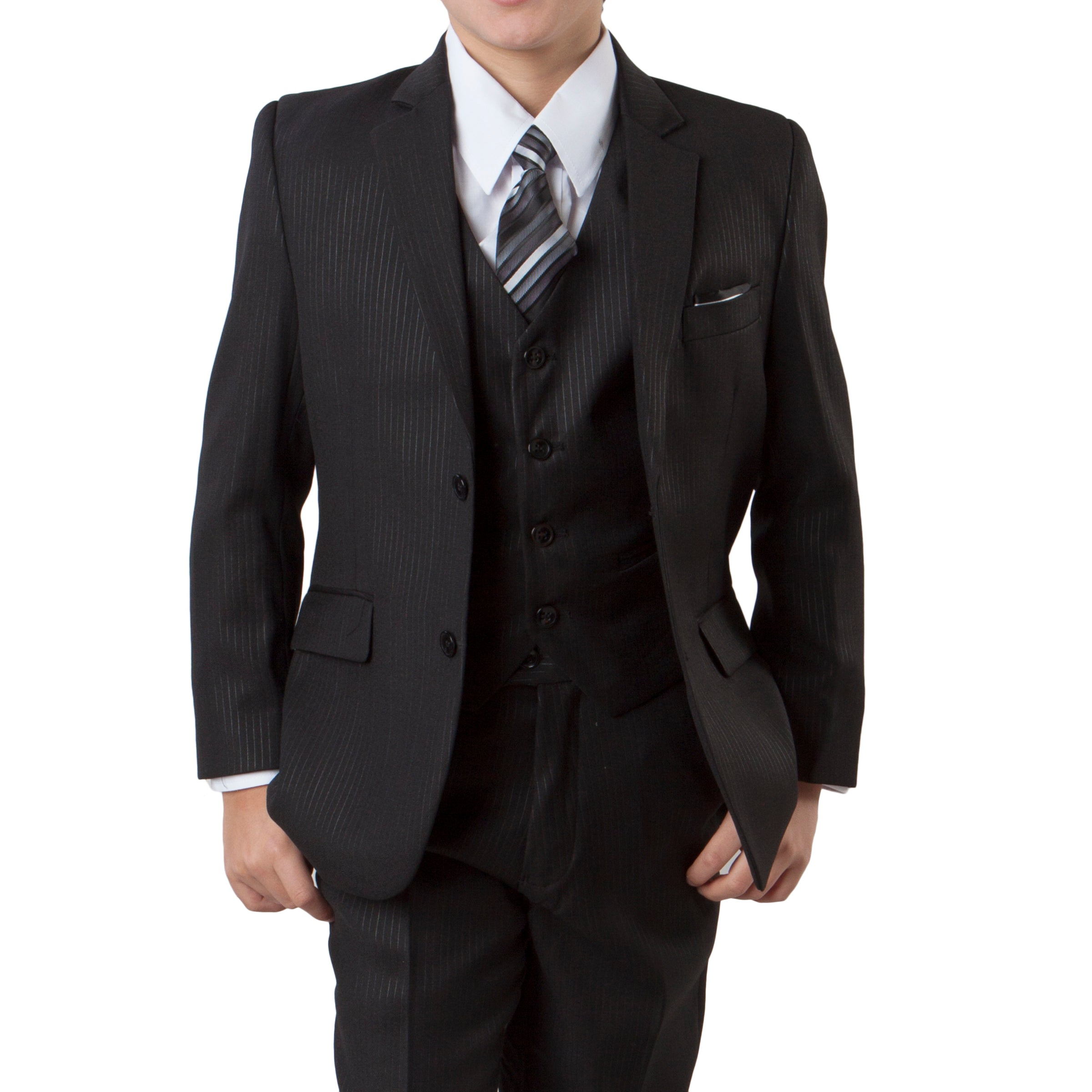 Tazio Black Formal Suits For Boys