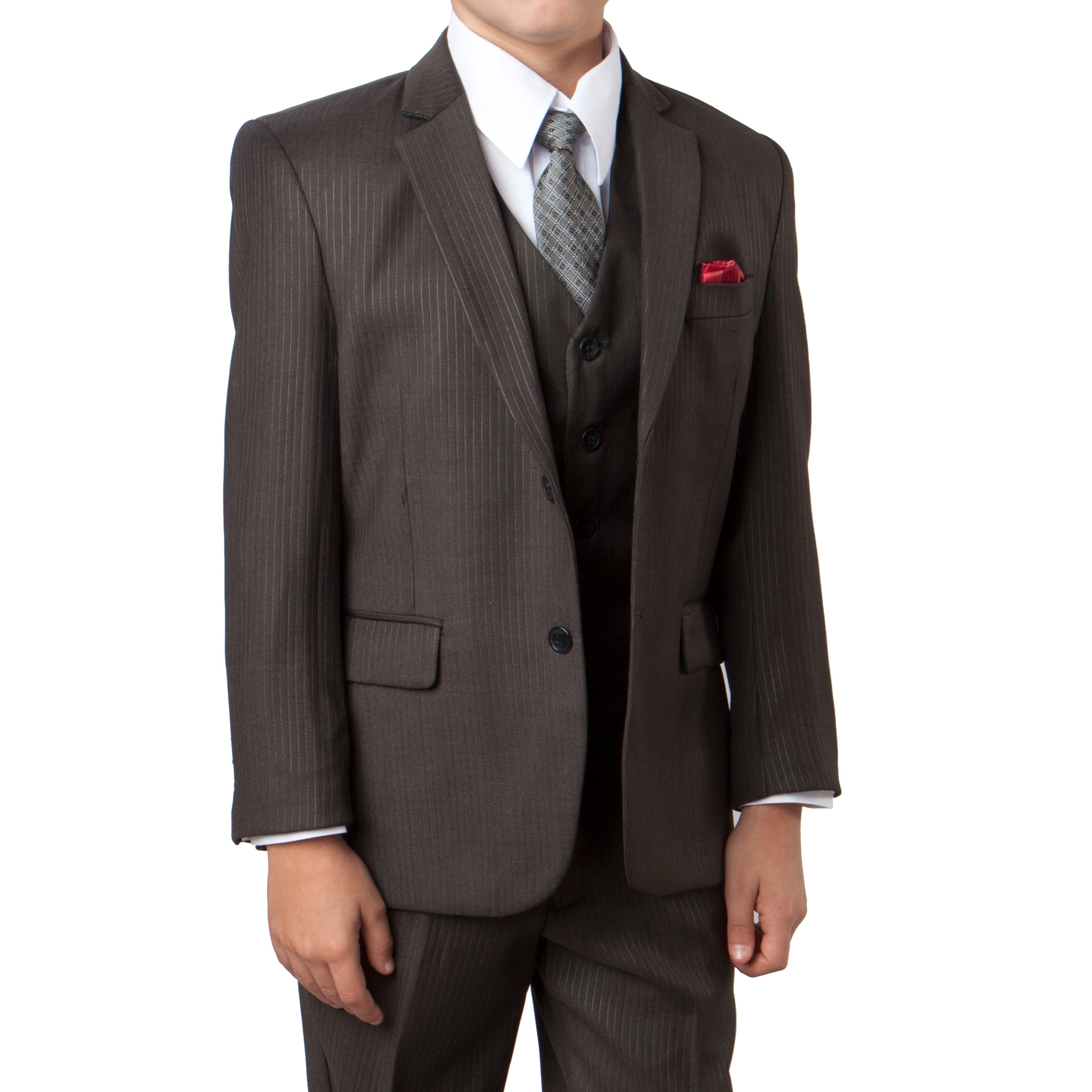 Tazio Dark Slate Formal Suits For Boys