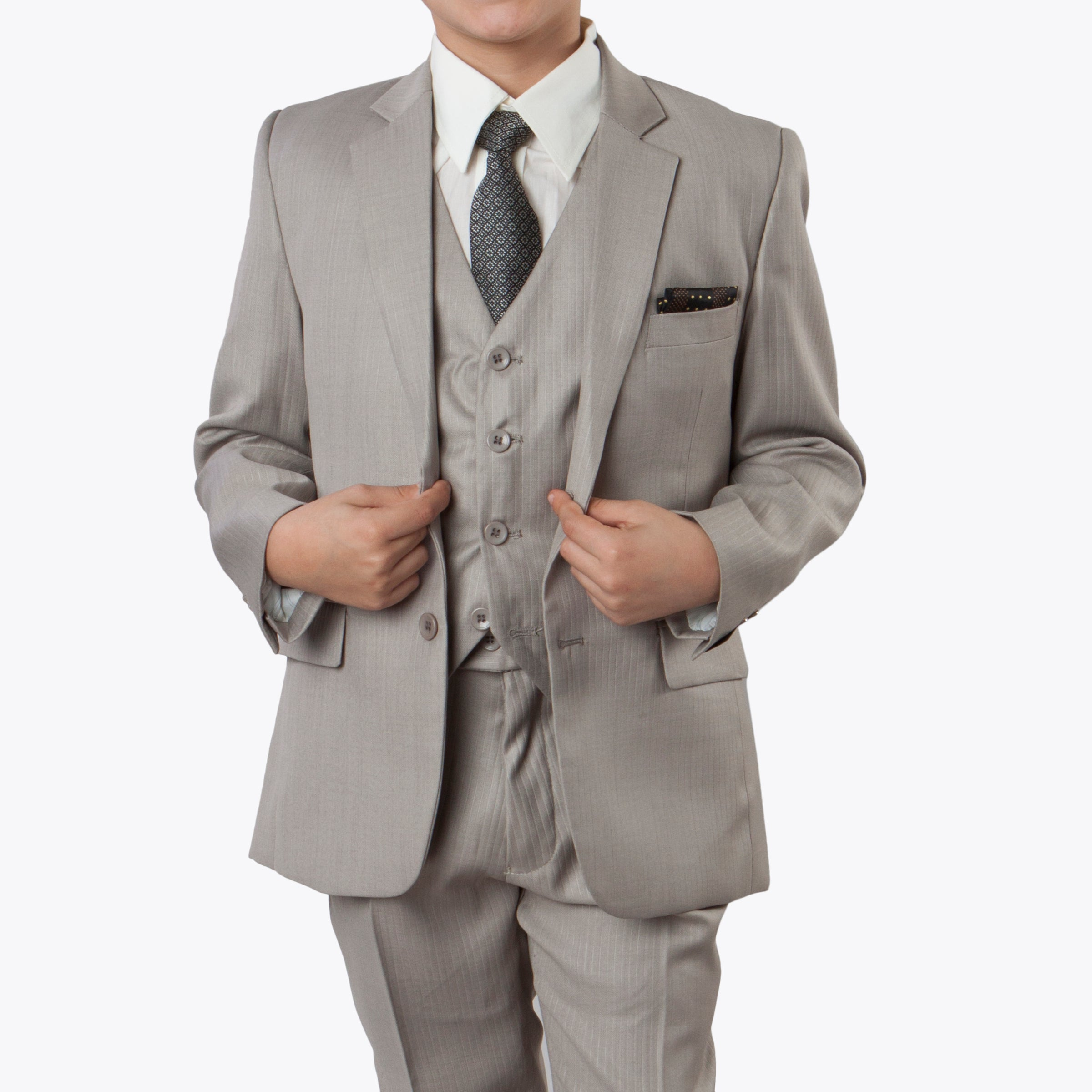 Tazio Dark Tan Formal Suits For Boys