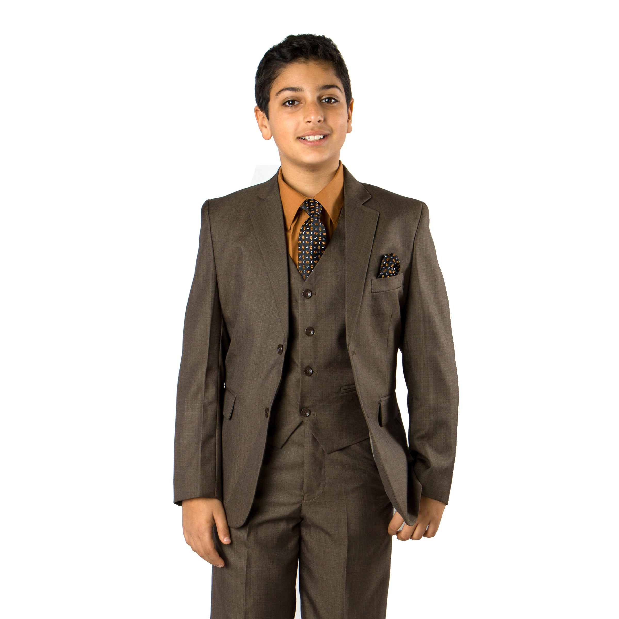 Tazio Olive Formal Suits For Boys